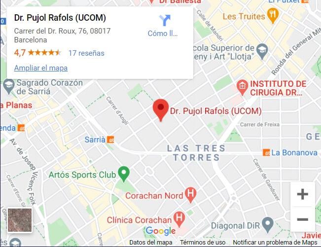 Localización de UCOM en Barcelona, tratamiento integral de la Obesidad