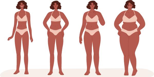 diferentes grados de obesidad