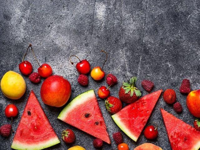frutas de temporada de verano para no engordar